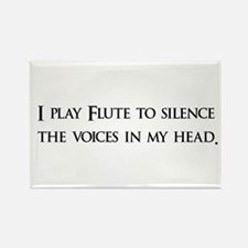 I Play Flute To Silence The V Rectangle Magnet