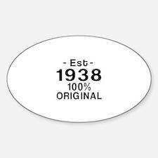 Est.Since 1938 Decal