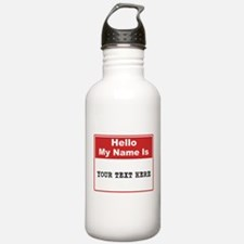 Custom Name Tag Water Bottle