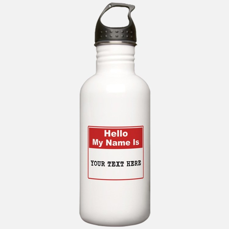 Custom Name Tag Water Bottle