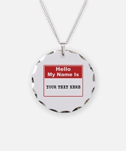 Custom Name Tag Necklace