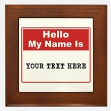 Custom Name Tag Framed Tile