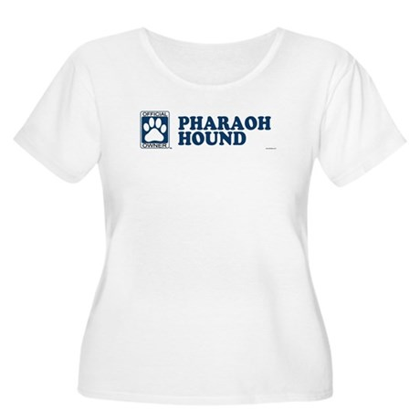 PHARAOH HOUND Womens Plus-Size Scoop Neck T