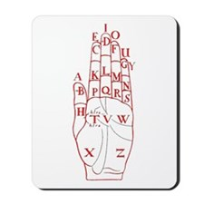 DALGARNO HAND RED Mousepad