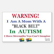 black belt cap mom Decal