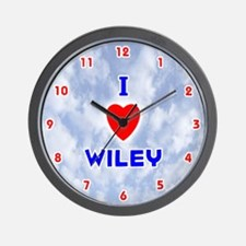 I Love Wiley (Red/Bl) Valentine Wall Clock