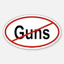 GUNS Oval Decal