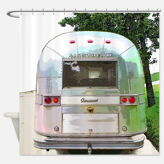 Vintage Airstream Collection Shower Curtain