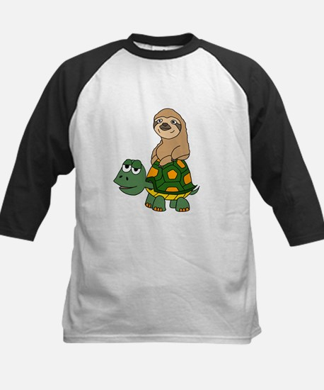 Funny Sloth on Turtle Baseball Jersey