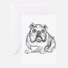 Bulldog Greeting Cards