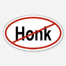 HONK Oval Decal