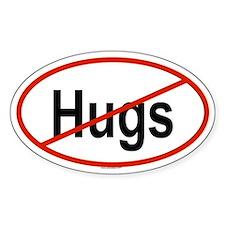 HUGS Oval Decal