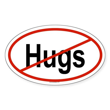 HUGS Oval Sticker
