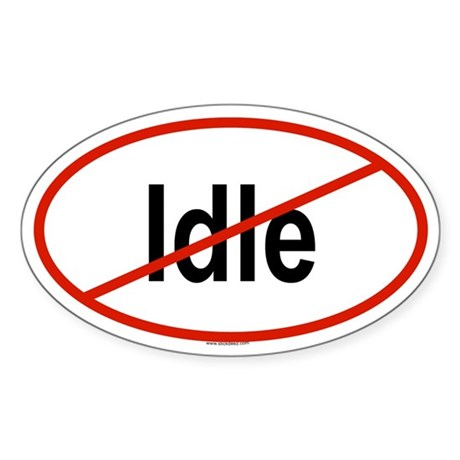 IDLE Oval Sticker