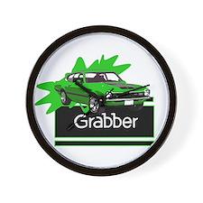 Grabber Green Maverick Wall Clock