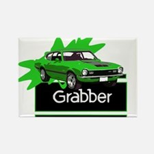 Grabber Green Maverick Rectangle Magnet