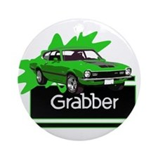 Grabber Green Maverick Ornament (Round)