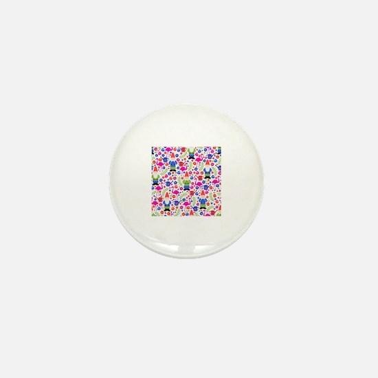 Funny Kitsch garden Mini Button