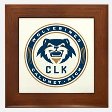 Wolverines Badge Framed Tile