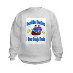 Paddle Faster Canoe Kids Sweatshirt