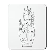 DALGARNO HAND GRAY Mousepad