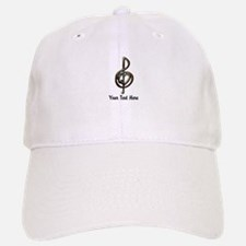 Treble Clef and Heart To Personalize for Music Baseball Baseball Cap