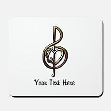 Music Treble Clef Embossed Look Customiz Mousepad