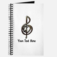Treble Clef and Heart To Personalize for M Journal