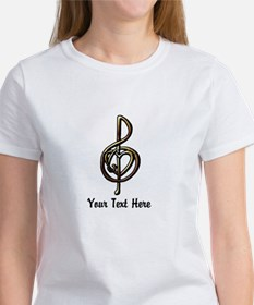 Music Treble Clef Embossed Look Cu Women's T-Shirt