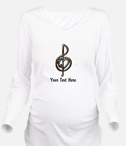 Music Treble Clef Em Long Sleeve Maternity T-Shirt