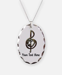 Music Treble Clef Embossed Loo Necklace