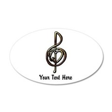 Personalized Music Treble Cl Wall Decal