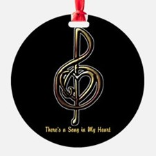 Customized Music Treble Clef and He Ornament