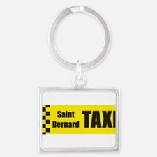 taxi_saint_bernard_flat Keychains