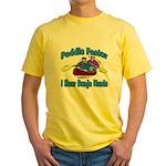 Paddle Faster Canoe Yellow T-Shirt