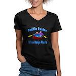 Paddle Faster Canoe Women's V-Neck Dark T-Shirt