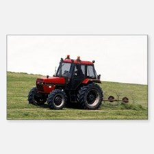 A Red Tractor On The Go Rectangle Decal
