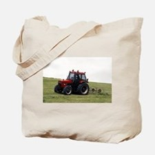 A Red Tractor On The Go Tote Bag