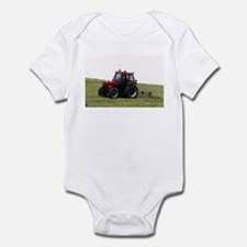 A Red Tractor On The Go Infant Bodysuit