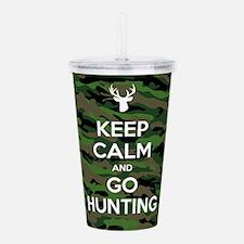 Keep Calm Go Hunting Acrylic Double-wall Tumbler