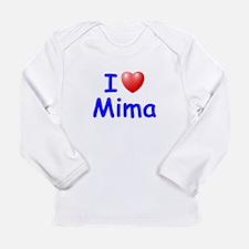 I Love Mima (Blue) Long Sleeve T-Shirt