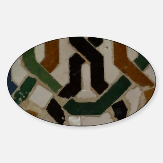 Funny Alhambra Sticker (Oval)