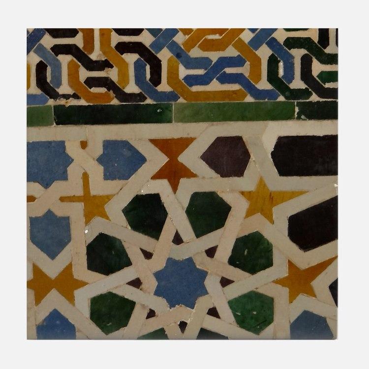 Cute Spain alhambra Tile Coaster