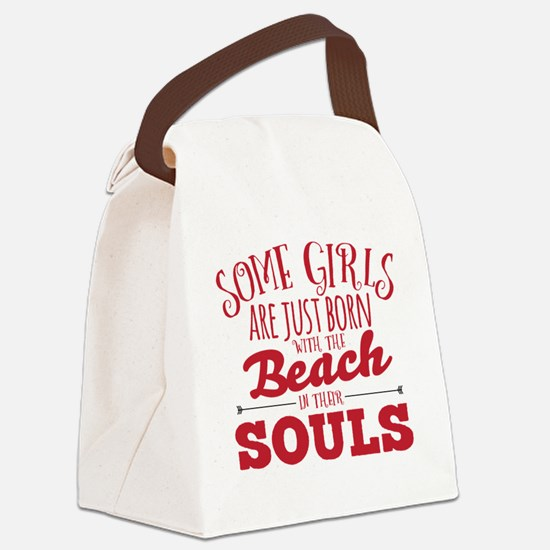 Cute Beach Canvas Lunch Bag