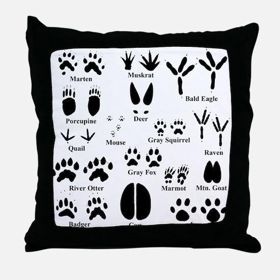 Animal Tracks Collection 1 Throw Pillow