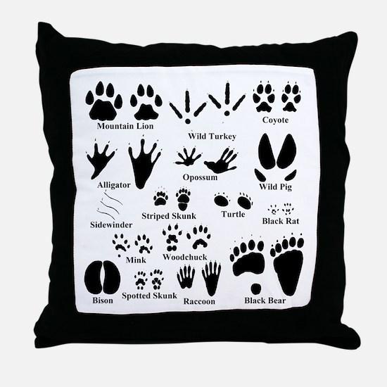 Animal Tracks Collection 2 Throw Pillow