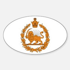 Persia Coat of Arms Oval Decal
