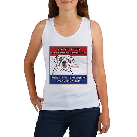 Anti-BSL American Bulldog Women's Tank Top
