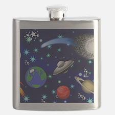 Kids Galaxy Universe Illustrations Flask