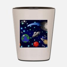 Kids Galaxy Universe Illustrations Shot Glass